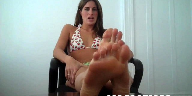 Let me milk that big cock with my feet