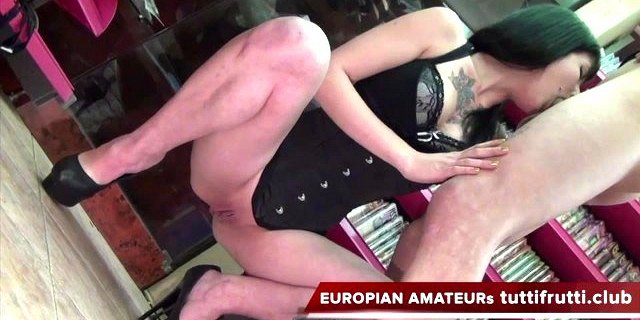 young couple on porn casting