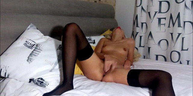 Huge squirt of russian blonde