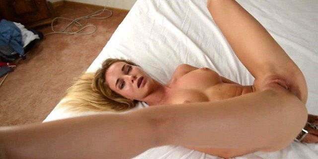 Hot Russian blonde tied up and fucked