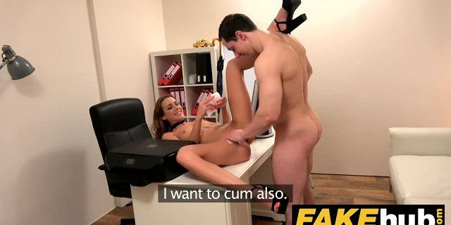 Female Agent Sexy agent gets licked to orgasm after fucking