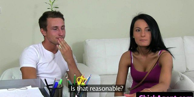 Euro casting babe cockriding at sex audition