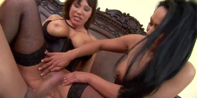 Desirable Japanese babes enjoy being butt fucked hard